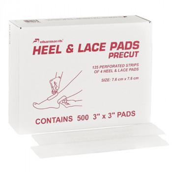 82119 Heel & Lace Pads pharmacels, 7,6*7,6cm, 1/500