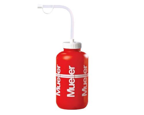Бутылка красная 950 мл с соломинкой