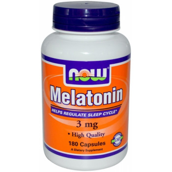 Melatonin 3 mg 180 caps NOW