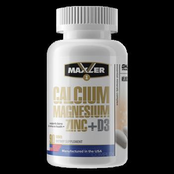 Calcium Zinc Magnesium + D3 90 tabs Maxler USA