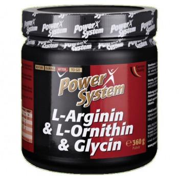 L-Arginin & L-Ornithin & L-Glycin 360 г Power System
