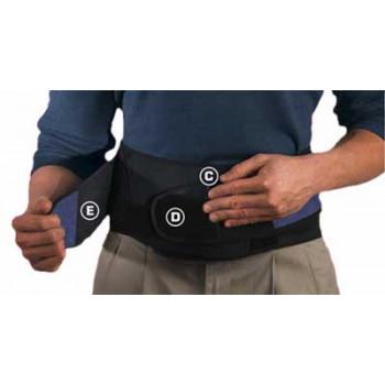 64179 Регулируемый бандаж на спину с подушкой на поясницу Adjusrable  Back Brace w/Lumbar Pad, Bla
