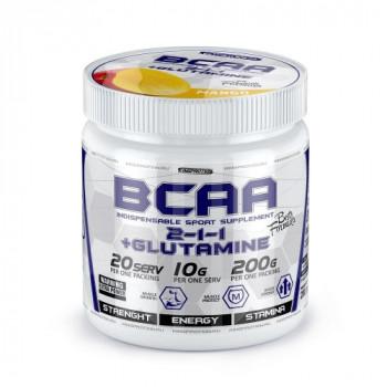 BCAA PRO (2-1-1) + Glutamine 200g King protein