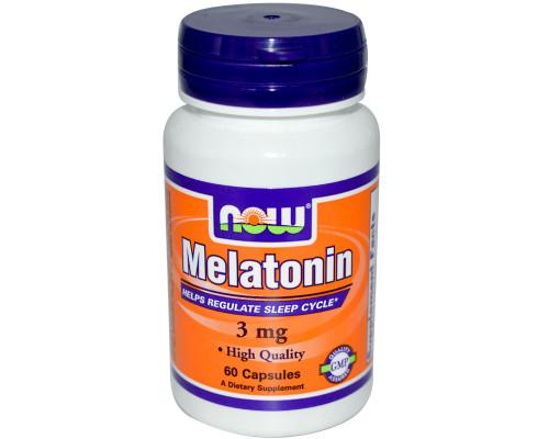 Melatonin 3 mg 60 caps NOW