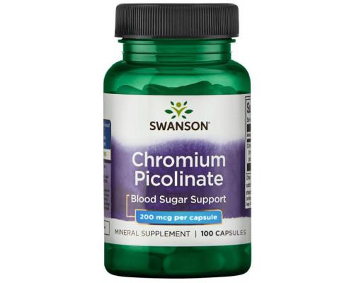 Chromium Picolinate 200 mcg 100 caps Swanson