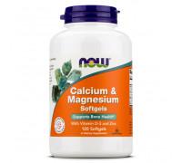 Calcium & Magnesium with  D and Zinc 120 gel caps NOW