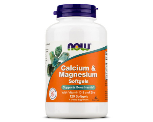 Calcium & Magnesium with  D and Zinc 120 gel caps NOW