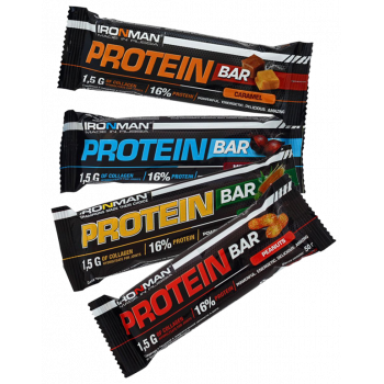 Протеин Бар с коллагеном 50г IRONMAN