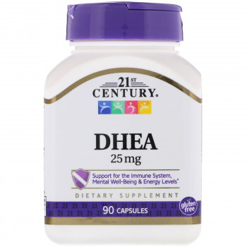 DHEA 25 мг/90 капсул 21st Century