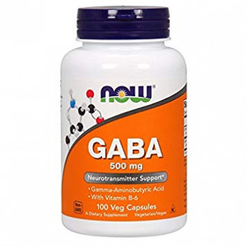 GABA 500 mg with B6 100 caps NOW