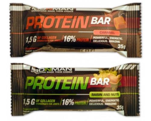 Протеин Бар с коллагеном 35г IRONMAN