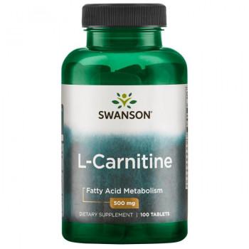 L-Carnitine 500 mg 100 tabs Swanson