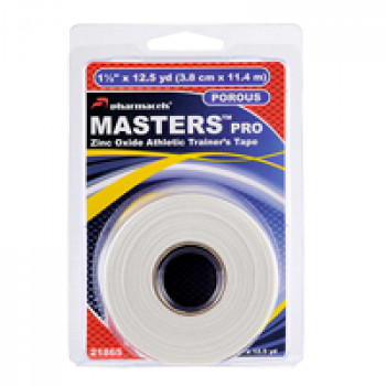 21865 MASTERS PRO Tape pharmacels,100% хлопок,ZnO,пористый,(3,8cm*11,4m), в роз упак (clamshell)