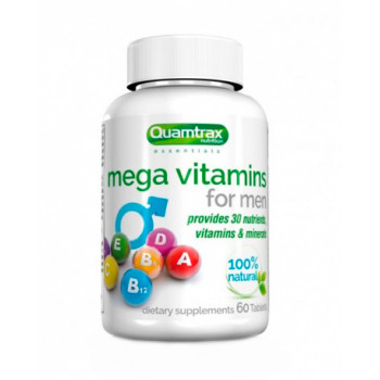 Mega Vitamins for Men 60 таб Quamtrax