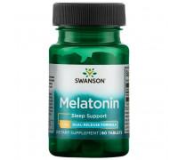 Melatonin 3 mg  Dual Release Formula 60 tabs Swanson