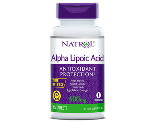 Alpha Lipoic Acid 600 мг 45 таб Natrol