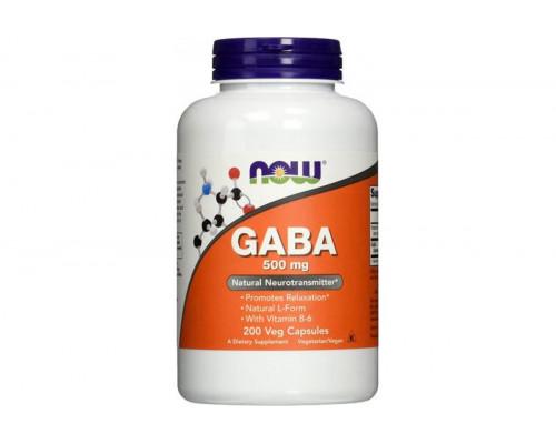 GABA 500 мг + В6 200 капс NOW