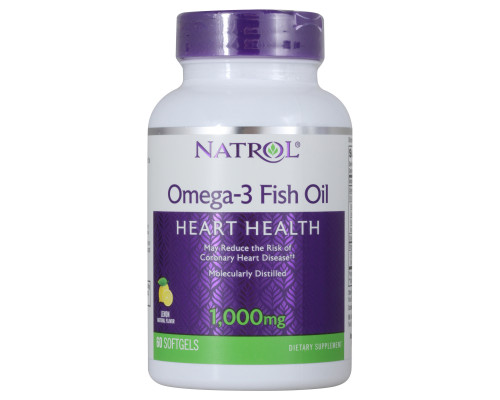 Omega-3 Fish Oil 1000 mg 60 капс Natrol