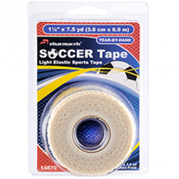 14870 SOCCER Tape pharmacels,легкоразрываемый,ZnO, (3,8см*6,9м), в роз упак (clamshel)