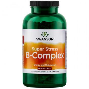 Super Stress B-Complex with Vitamin C 240 caps Swanson