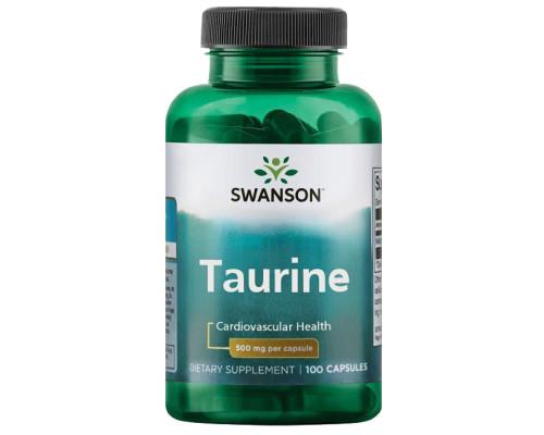 Taurine 500 mg 100 caps Swanson