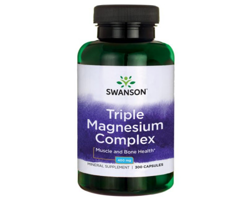 Triple Magnesium Complex 400 mg 300 caps Swanson
