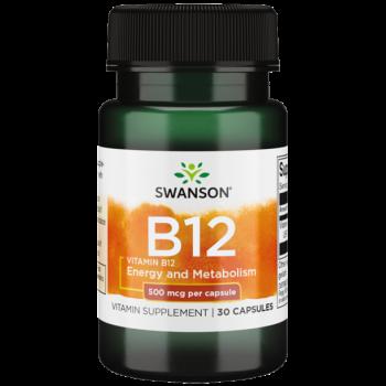 Vitamin B12 500 mcg 30 caps Swanson