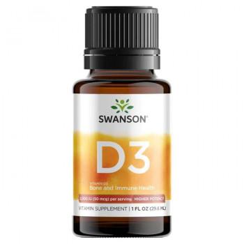 Vitamin D3 Bone and Immune Health 2000 IU (50mcg) 1 flac (29.6ml) Swanson