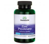 Zinc Picolinate Body Preferred Form 22 mg 60 caps Swanson